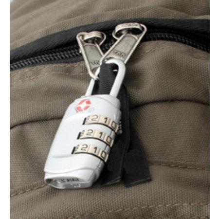 Travelsafe TSA cijfercode hangslot - zilver