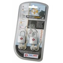 2 TSA reisslotjes met sleutel - set van 2 - geschikt voor ritsen