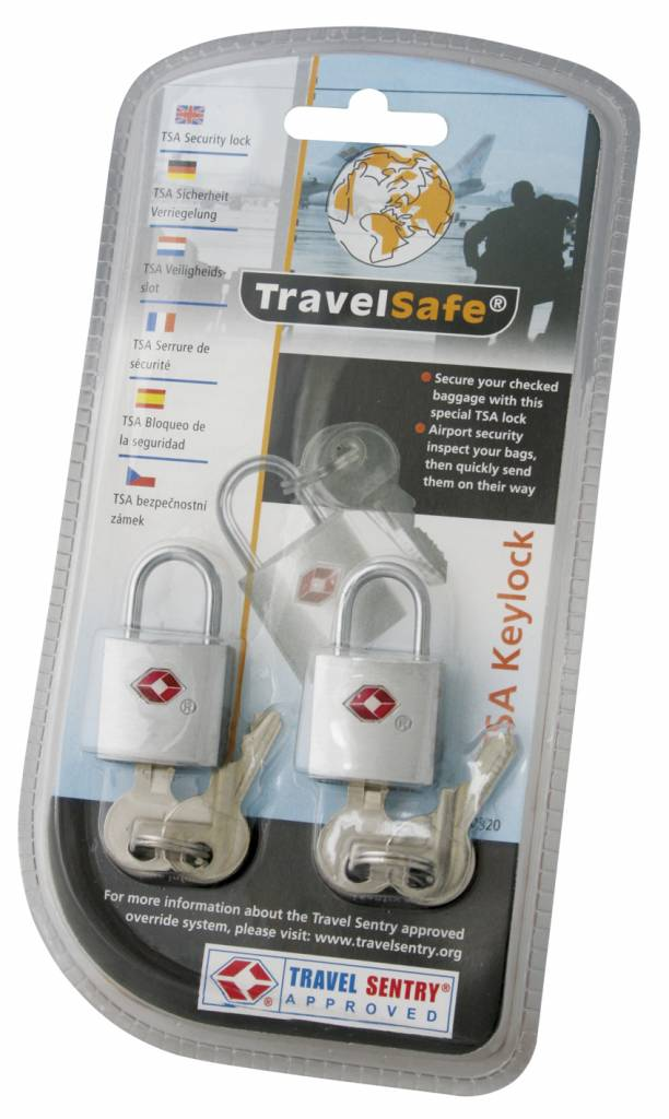 Travelsafe 2 TSA reisslotjes met sleutel - set van 2 - geschikt voor ritsen