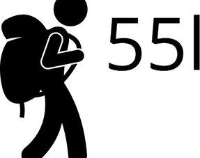 Backpacks tot 55 liter S