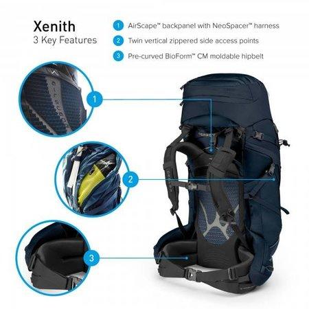 Osprey Xenith 75l backpack - Tektite Grey