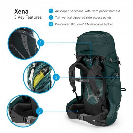 Osprey Xena - 70l - backpack dames - Canopy Green