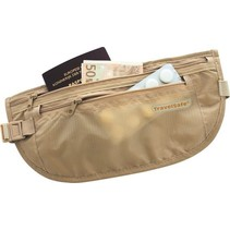 moneybelt lightweight – reisportemonnee - beige– twee ritsen