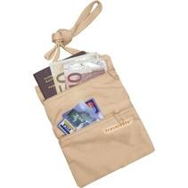 Security Pocket – moneybelt – nek portemonnee – beige