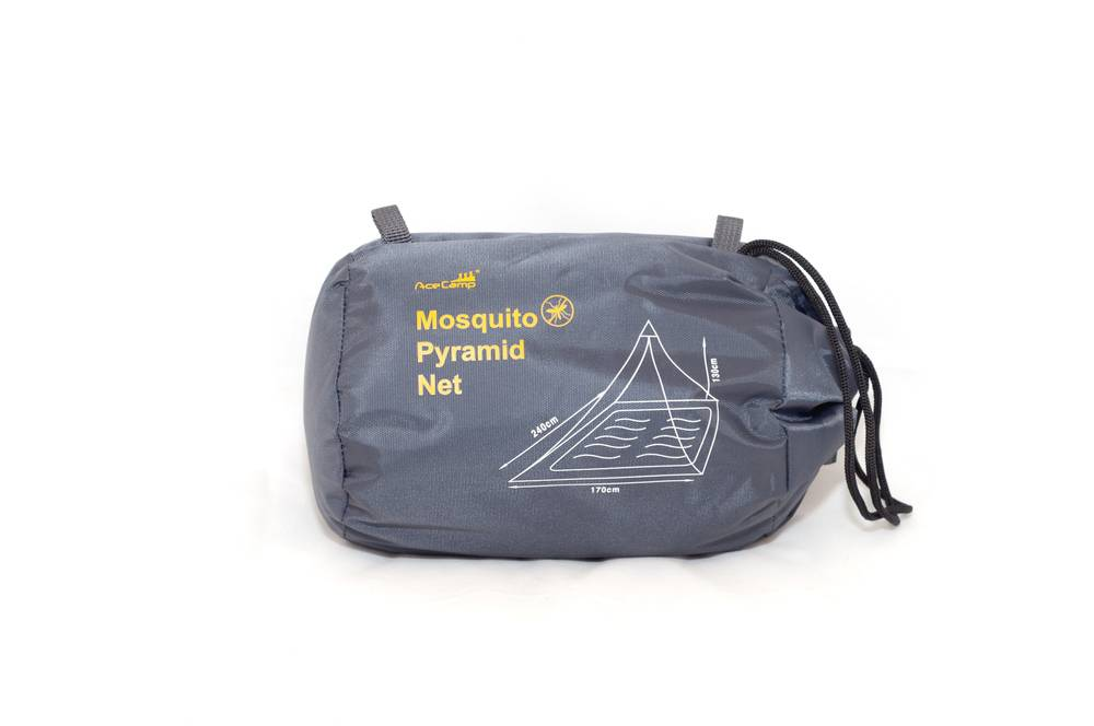 Afbeelding van Ace Camp Piramide reisklamboe 2 persoons - muskietennet - zwart