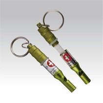 Emergency capsule en fluit - sleutelhanger