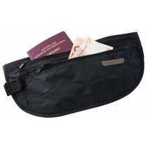 moneybelt lightweight – reisportemonnee - zwart– twee ritsen