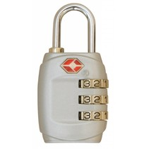 TSA cijfercode hangslot - zilver