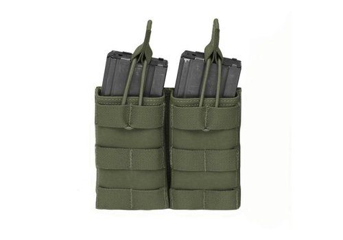 Warrior Double Open 5.56 Mag Bungee Retention - Olive Drab