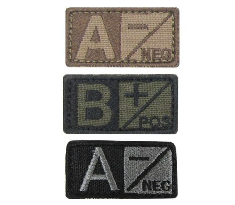 229 Blood Type Badge - Coyote Tan