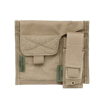 Warrior Large Admin Panel w Pistol Pouch - Coyote Tan