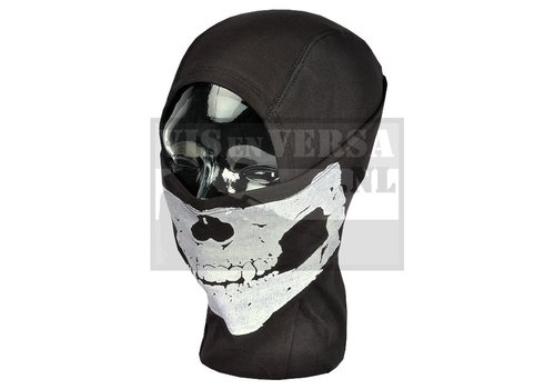 Invader Gear MPS Death Head Balaclava - Zwart