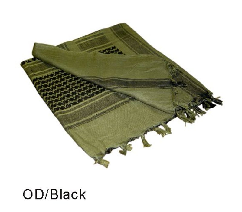 201 Shemagh - Olive Drab, Black