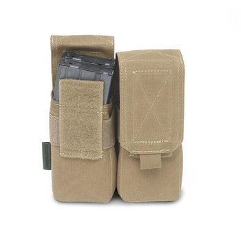 Warrior Elite OPS Double 5.56 M4 Pouch - Coyote Tan
