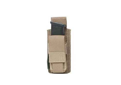 Warrior Direct Single 9mm Direct Action Pistol Mag Pouch - Coyote Tan
