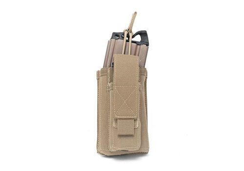 Warrior Single Open 5.56 Mag & 9mm pouch - Coyote Tan