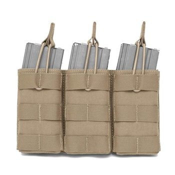 Warrior Triple Open 5.56 Mag Bungee Retention - Coyote Tan