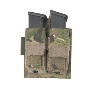 Warrior Elite OPS Direct Action Double 9mm Pistol Pouch - MultiCam