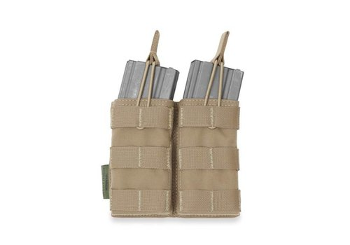Warrior Double Open 5.56 Mag Bungee Retention - Coyote Tan