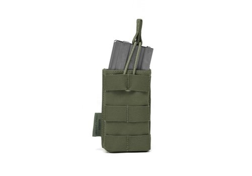 Warrior Single Open 5.56 Mag Bungee Retention- Olive Drab