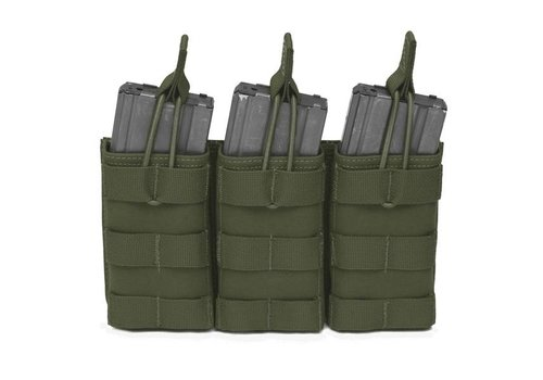 Warrior Triple Open 5.56 Mag Bungee Retention - Olive Drab