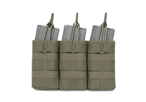 Warrior Triple Open 5.56 Mag Bungee Retention - Ranger Green