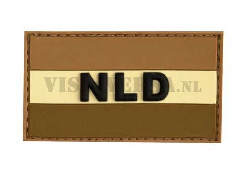 Rubber Badge - Nederlandse vlag - Desert