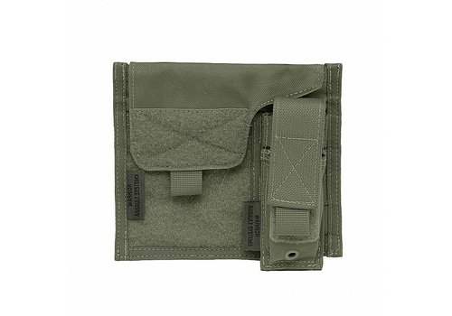 Warrior Large Admin Panel w Pistol Pouch - Olive Drab