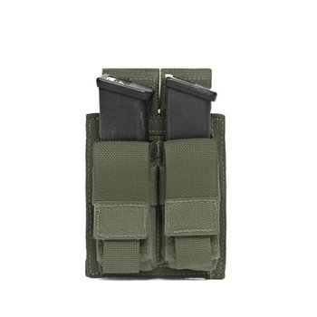 Warrior Elite OPS Direct Action Double 9mm Pistol Pouch - Olive Drab