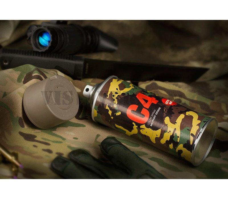 C4 Military Grade Color Spray RAL7050 - (grau)