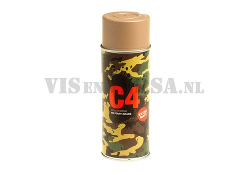 C4 Military Grade Color Spray RAL8031 (zandbruin)