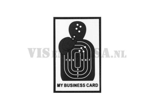 Meine Visitenkarte Rubber Patch - Schwarz / Weiß