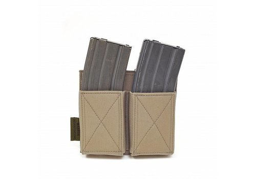Warrior Double Elastic Mag Pouch - Coyote Tan