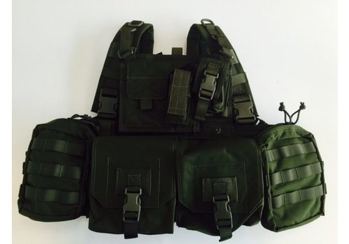 Warrior 901 Minimi Chest Rig - Olive Drab ( uniek bij NLTactical)