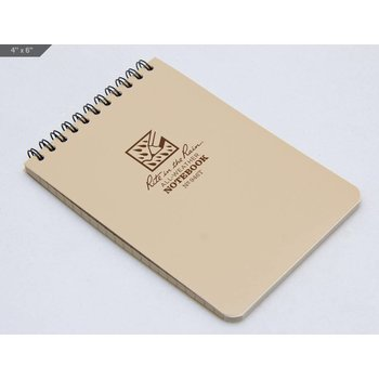 Rite in the Rain Pocket Top Spiral Notebook 10 X15cm - Tan
