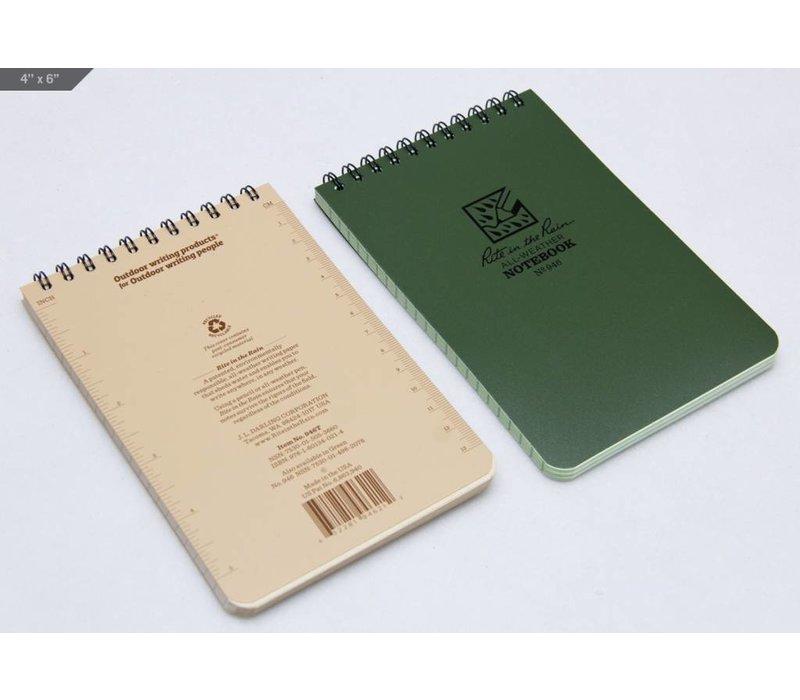 Pocket Top Spiral Notebook 10 X15cm - Olive Drab