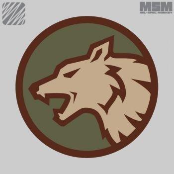 MilSpec Monkey Wolf-Kopf-Patch - Wald