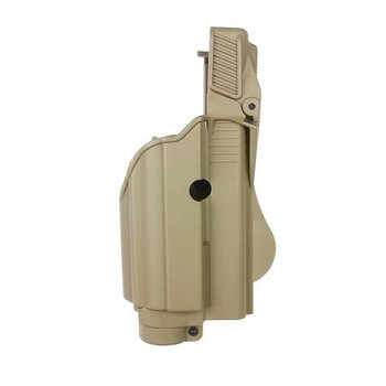 IMI Defense Z1600 Paddle Holster Tactical Light Glock 17- Coyote Tan