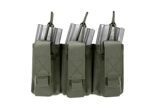 Warrior Triple Open 5.56mm Mag w 3 Pistol Mag Pouches - Olive Drab
