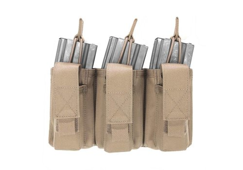 Warrior Triple Open 5.56mm Mag w 3 Pistol Mag Pouches - Coyote Tan
