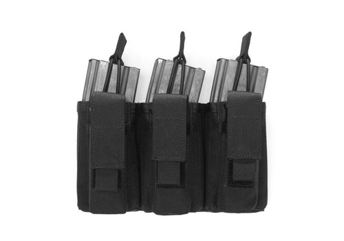 Warrior Triple Open 5.56mm Mag w 3 Pistol Mag Pouches - Black