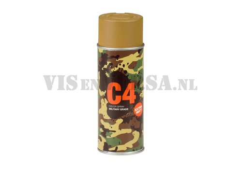 C4 Military Grade Color Spray RAL8000 ( Groen-bruin)