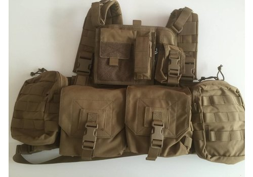 901 Minimi Chest Rig - Coyote Tan (uniek bij NLTactical)