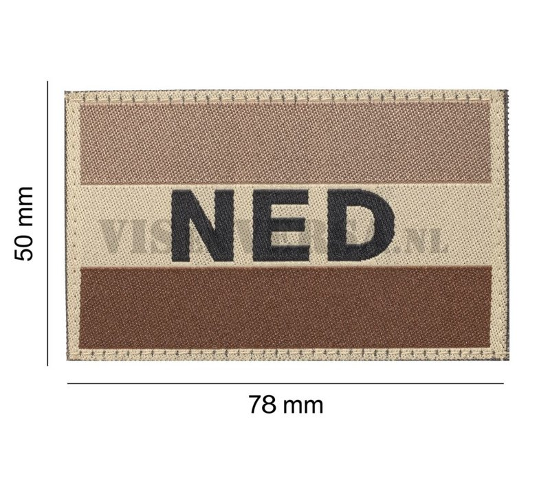 Niederländische Flagge 50 x 76 mm - Desert