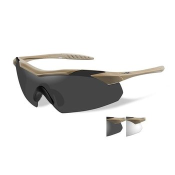 Wiley X WX Vapor Tan Frame/ Clear and Grey lenses
