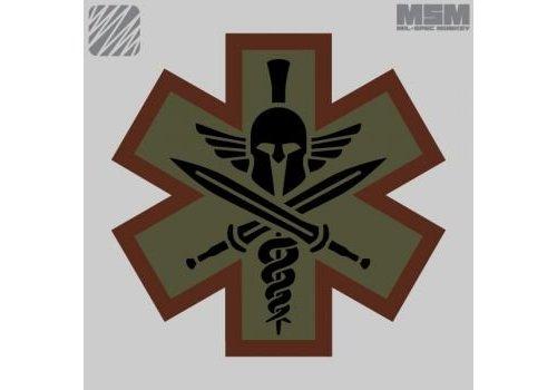 MilSpec Monkey Tactical Medic Spartan Patch - Desert