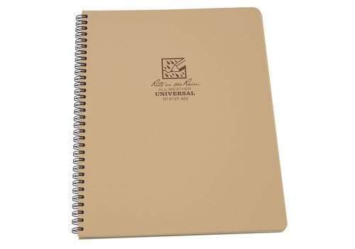 Rite in the Rain Maxi Side Spiral Notebook 22 X 28cm - Tan