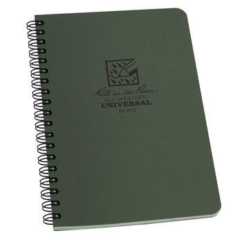 Rite in the Rain Side Spiral Notebook 12 X 18cm - braunoliv