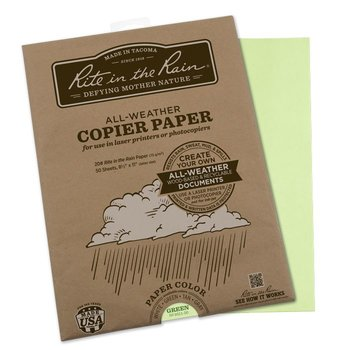 Rite in the Rain All Weather Copier paper A4 50 vel - Green