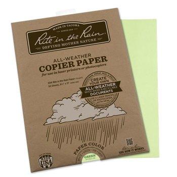Rite in the Rain All Weather Kopierpapier A4 50 Blatt - Grün